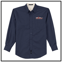 Net Zero USA Long Sleeve Easy Care Shirt - Navy