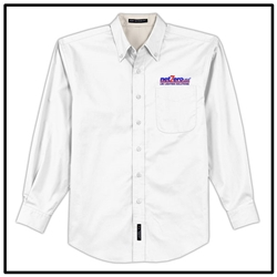 Net Zero USA Long Sleeve Easy Care Shirt - White